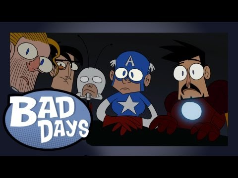 The Avengers - Bad Days - Ep12, Nick Fury assembles Earth's Mightiest Heroes for a day of relaxation. Not all goes to plan for the Avengers on Bad Days. Written and directed Junaid Chundrig...
