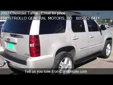 2007 Chevrolet Tahoe LTZ for sale in Huron, SD 57350 at PROS