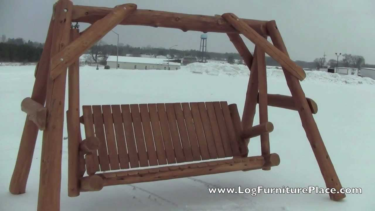 Cedar Lake Massive Cedar Log Swing From Logfurnitureplace