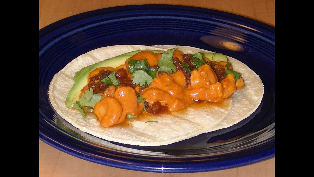 Shrimp Tacos in Chipotle Sauce - Mexican Tacos Recipe - YouTube