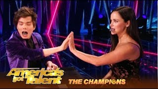 Shin Lim Performs His KISS Transfer Trick And Its SHOCKING! | AGT Champions