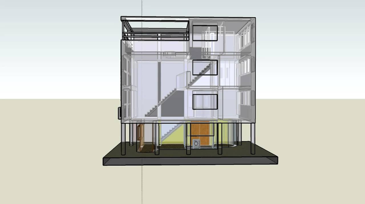 Corbusier maison citrohan 3d sketchup youtube