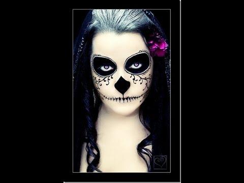 Maquillaje para dia de muertos calavera youtube - Maquillage dia de los muertos ...