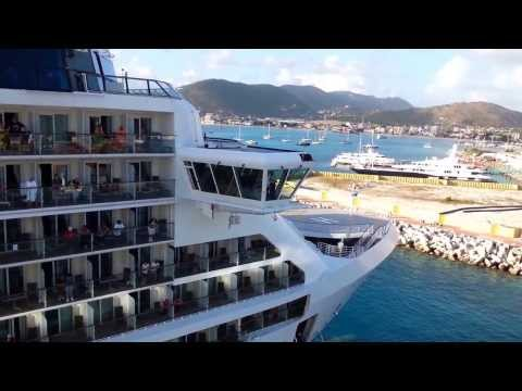 Cruise ship leaving the dock, February 2013