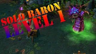 Nasus Level 1 Solo Baron League Of Legends