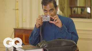 Aziz Ansari Shows Us What's in His Bag | GQ