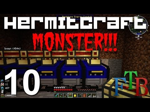 Hermitcraft FTB Ep. 10 - Ender Quarry - New Generators - Auto Mob farm