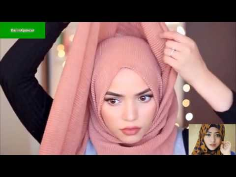 Tutorial Hijab-simple Tanpa Memakai Pin