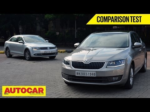 2013 Skoda Octavia vs Volkswagen Jetta | Comparison Test | Autocar India