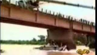 Crane Tries To Pull A Bus Out Of Water And Falls In