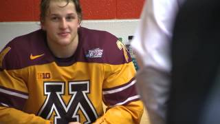 NCAA: Gophers' Justin Holl Mobbed By Teammates In Locker Room After Scoring Shortie With .6 Seconds On The Clock To Defeat UND (video)
