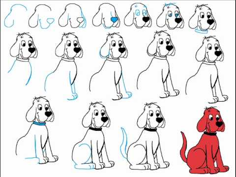 how to draw clifford face