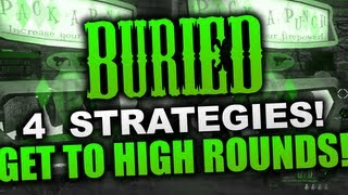 """""""Black Ops 2 Buried"""" 4 Of The Best Solo High Round Strategies  (""""Black Ops 2 Zombies"""")"""