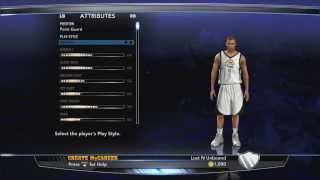NBA 2K14 MYCAREER Ep.1 Creation Of An Athletic PG How