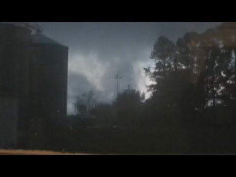 Tornadoes and giant hailstones as North Carolina battered by extreme weather