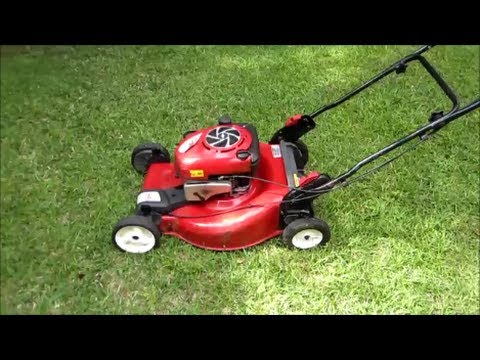 how to change oil in gas lawn mower
