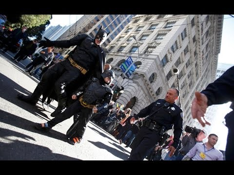 Batkid takes on the Riddler in San Francisco