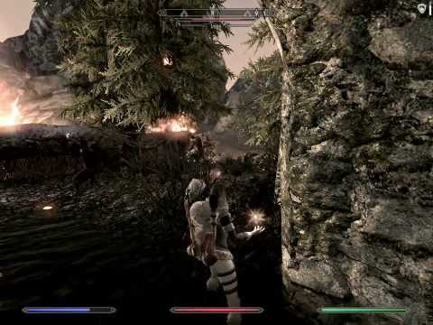 skyrim magma dragon + some immersive gameplay