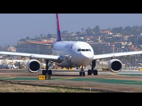 *RARE Taxi Pattern* Hawaiian Airlines Airbus A330-200 Takeoff San Diego