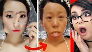 CRAZY VIRAL ASIAN MAKEUP TRANSFORMATIONS + TUTORIALS COMPILATION
