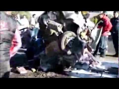 Accidente vial carretera Tlaxcala-San Martín Texmelucan 21 de Enero 2014