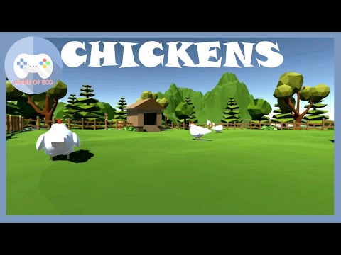 Chickens FPS Simulation Funny Moments With Chickens Unity Game