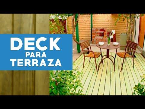 ¿Cómo hacer un deck para la terraza?
