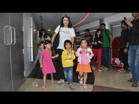 Farah Khan With Her Kids @ Joker Special Screening