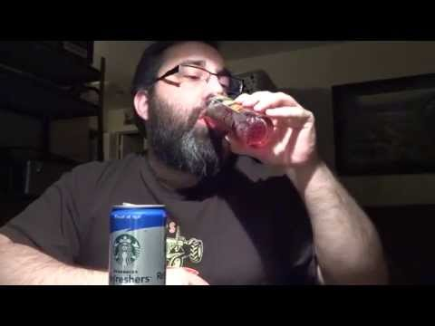 Starbucks Refreshers Blueberry Non-Alcoholic Energy Drink Review Beer Guy Reviews