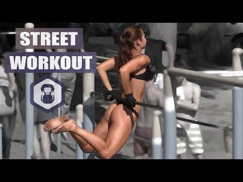 Na Rússia e Ucrânia o exercício físico é feito ao ar livre por super homens e belas mulheres!