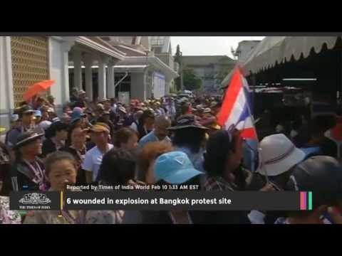 6 Wounded In Explosion At Bangkok Protest Site