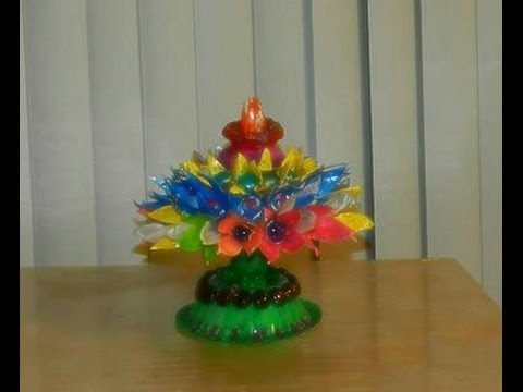 RECYCLE and DIY: Coconut shell tower with egg carton flowers!!!