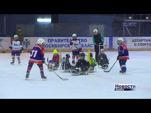 В открытой тренировке приняли участие бердские следж-хоккеисты