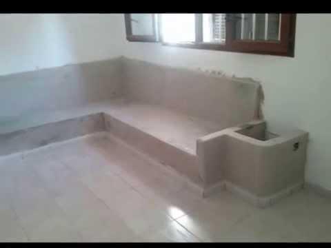 Sofas de obra 0002 youtube for Bancos de granito para jardin