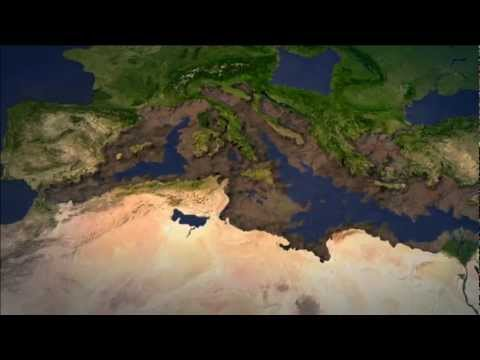3D animation - Mediterranean isolation and desiccation during the Messinian Salinity Crisis