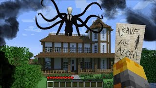 GIANT SLENDERMAN APPEARS IN MY HOUSE IN MINECRAFT !! Minecraft Mods