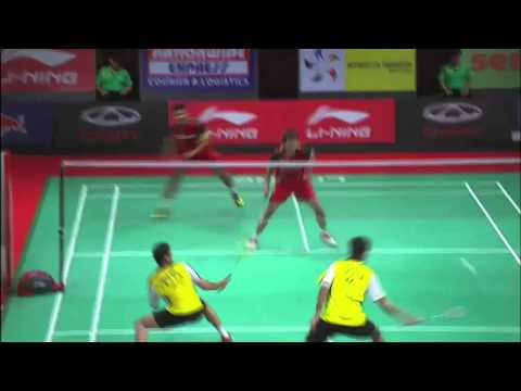 Group Stage - MD (Highlight) - P.Angga /S.R.Agung vs D.Akshay /C.P.Jerry - 2013 Sudirman Cup