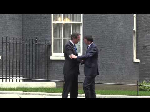Londra arrivo di Matteo Renzi e incontro con David Cameron
