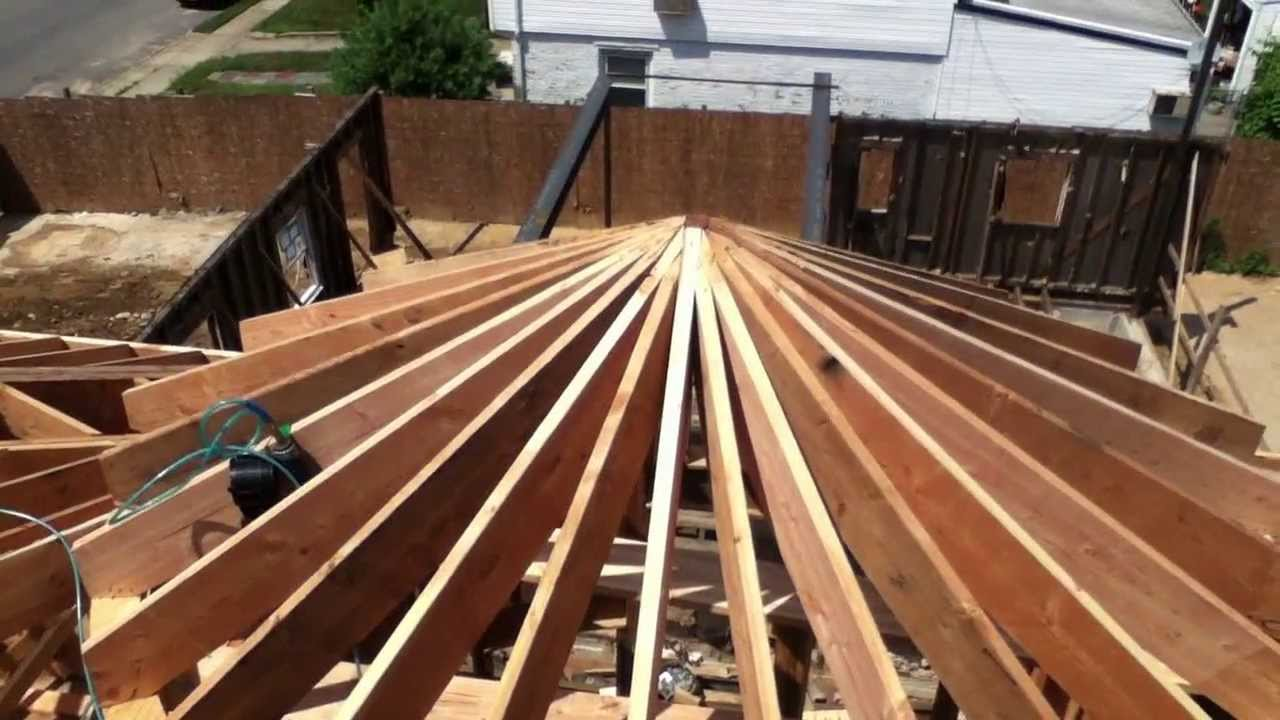 Making A Circular Roof Queens Ny Youtube