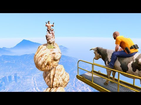 GTA 5 Crazy Jumper/Falls (GTA 5 Fails Funny Moments)