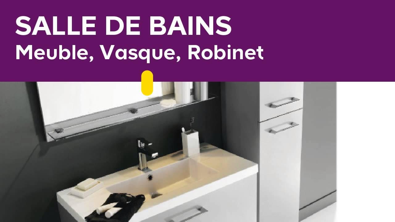 Salle de bains meuble vasque robinet youtube - Castorama meuble vasque ...