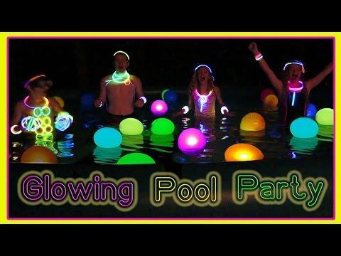 7 000 Glow Sticks Swimming In A Family Sized Pool Of Glow Sticks
