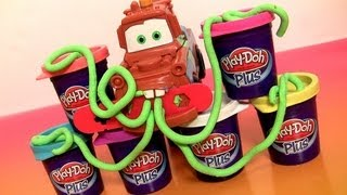 Cars 2 Play Doh Plus ★ Mold A Car Mater Using Playdough