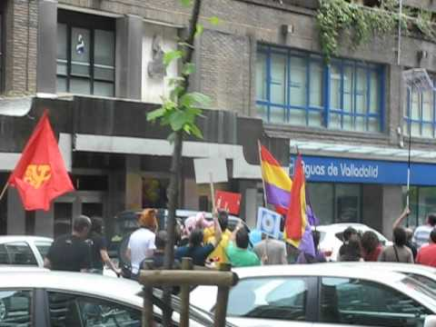 Incidente en la manifestación antimonárquica.