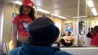 CRAZY GIRL ON TRAIN CAUGHT ON TAPE