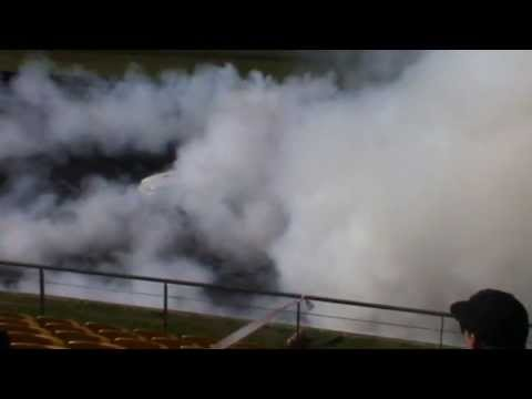 12  WTBOST Holden VP V6 Supercharged Commodore Burnout At BRASHER NATS WSID 9 6 2013