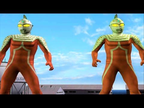 Sieu Nhan Game Play   Ultra seven và Ultra Seven Tag battle Mode   Game Ultraman Fe3