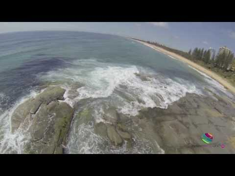 DJI Phantom Quadcopter, Buddina Beach, Sunshine Coast, Queensland Australia