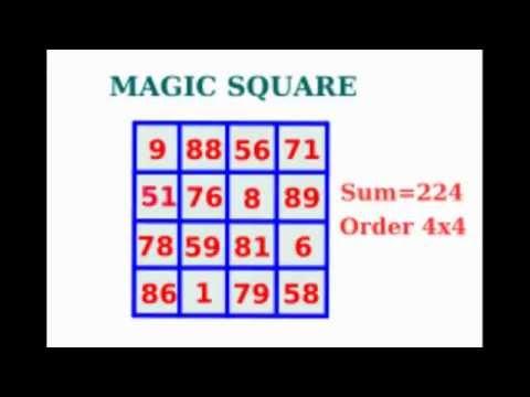 how to create a magic square 4x4