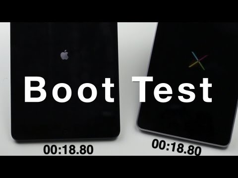 iPad mini vs Nexus 7 boot speed test
